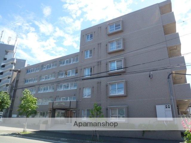 北海道札幌市豊平区、平岸駅徒歩13分の築27年 5階建の賃貸マンション
