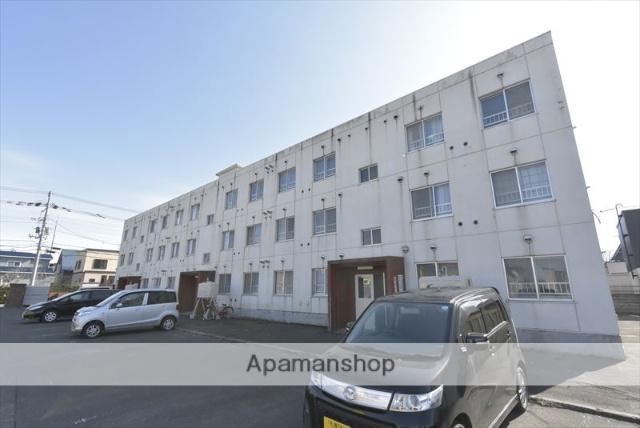 北海道北広島市、北広島駅中央バスバス20分大曲下車後徒歩5分の築32年 3階建の賃貸マンション