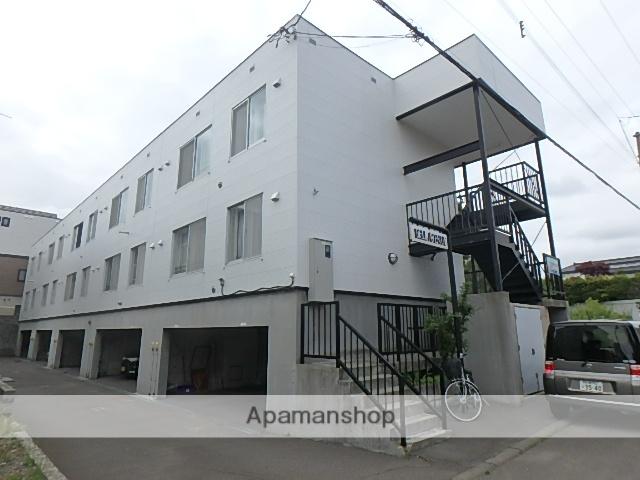 北海道北広島市、上野幌駅中央バスバス30分輪厚下車後徒歩7分の築22年 3階建の賃貸アパート