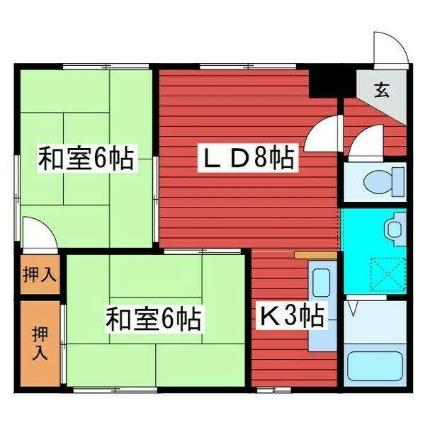 パンプキンハウス[2LDK/49m2]の間取図