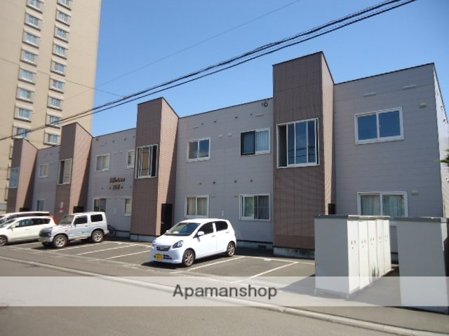 北海道札幌市豊平区、美園駅徒歩20分の築18年 2階建の賃貸アパート
