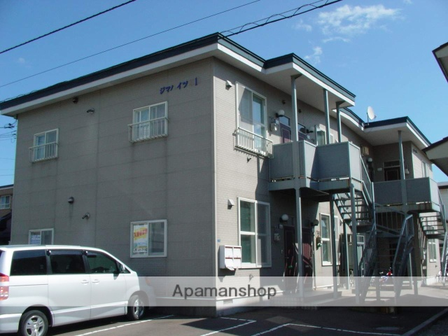 北海道北斗市、七重浜駅徒歩17分の築24年 2階建の賃貸アパート