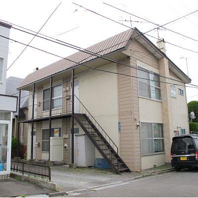 北海道函館市、中央病院前駅徒歩10分の築36年 2階建の賃貸アパート