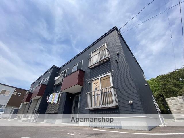 北海道函館市、五稜郭公園前駅徒歩17分の新築 2階建の賃貸アパート