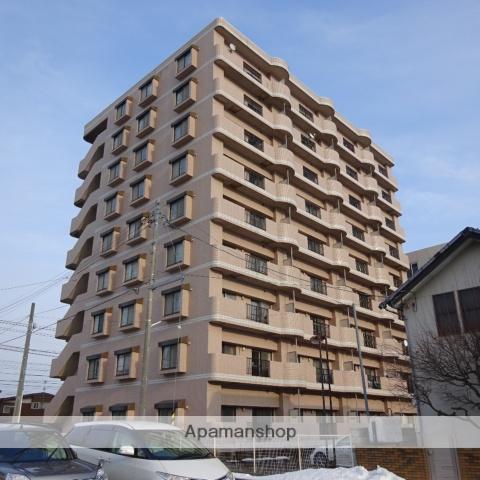 北海道函館市、競馬場前駅徒歩3分の築26年 9階建の賃貸マンション