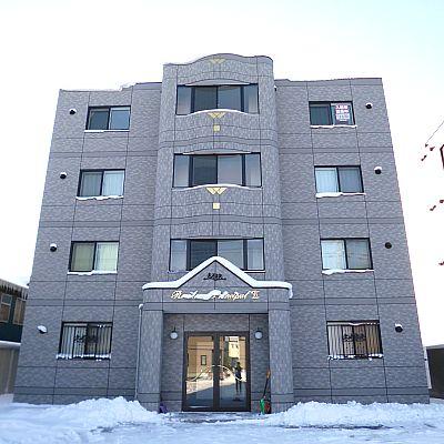北海道函館市、五稜郭駅徒歩12分の築5年 4階建の賃貸マンション