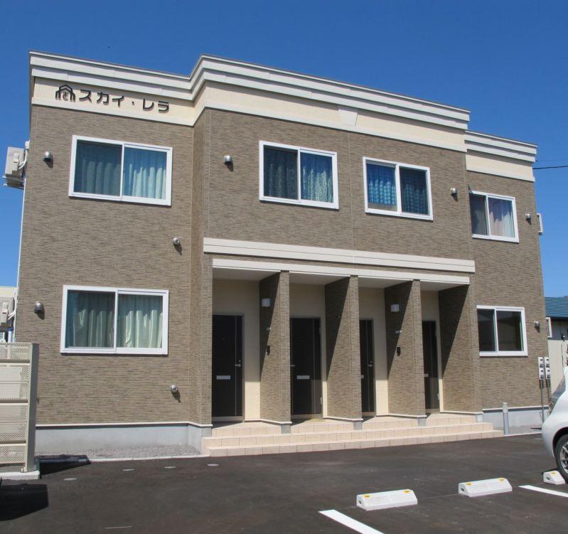 北海道亀田郡七飯町、七飯駅徒歩5分の築1年 2階建の賃貸アパート