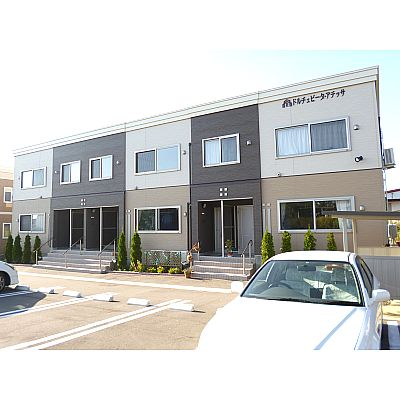 北海道亀田郡七飯町、大中山駅徒歩13分の築3年 2階建の賃貸アパート