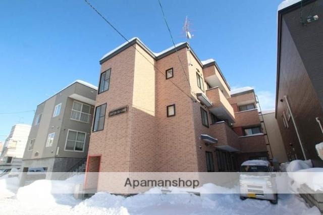 北海道札幌市豊平区、白石駅徒歩15分の築13年 3階建の賃貸アパート
