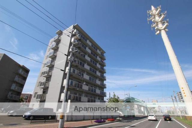 北海道札幌市豊平区、平岸駅徒歩14分の築21年 8階建の賃貸マンション
