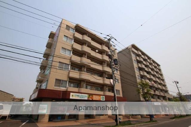 北海道札幌市豊平区、南平岸駅徒歩14分の築28年 6階建の賃貸マンション