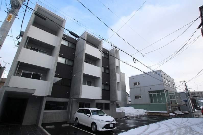 北海道札幌市白石区、苗穂駅徒歩17分の新築 4階建の賃貸マンション