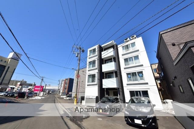 北海道札幌市白石区、菊水駅徒歩7分の新築 4階建の賃貸マンション