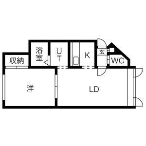 ウィンディー東札幌[1LDK/35.49m2]の間取図