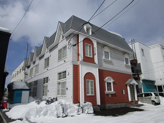 北海道札幌市豊平区、中の島駅徒歩13分の築28年 2階建の賃貸アパート