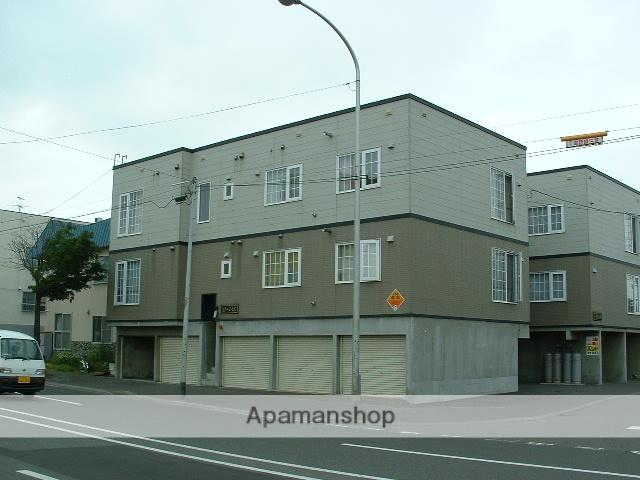 北海道札幌市豊平区、南郷7丁目駅徒歩12分の築21年 3階建の賃貸アパート