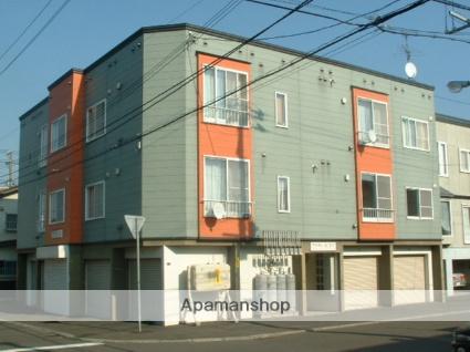 北海道札幌市豊平区、南郷7丁目駅徒歩9分の築22年 3階建の賃貸アパート