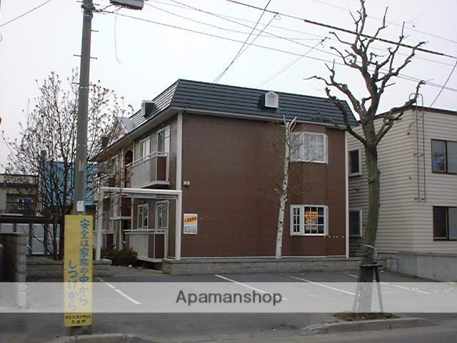 北海道札幌市豊平区、平岸駅徒歩20分の築21年 2階建の賃貸アパート