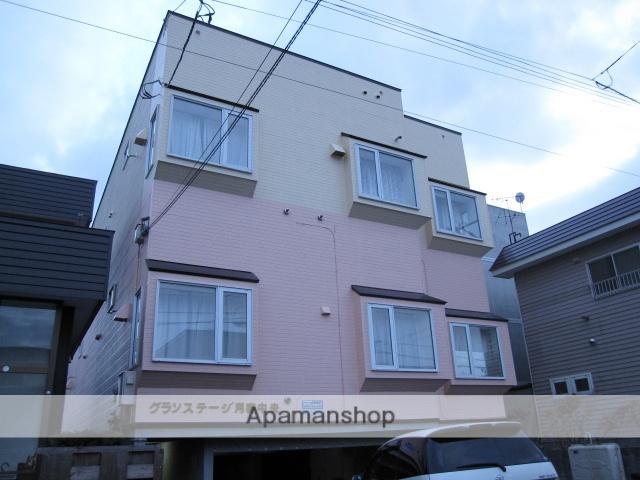 北海道札幌市豊平区、美園駅徒歩13分の築22年 3階建の賃貸アパート