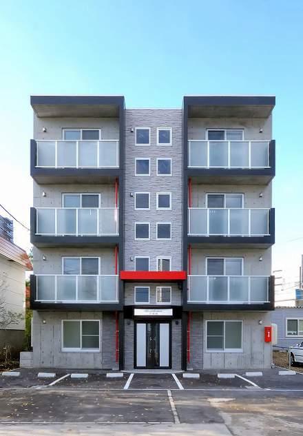 北海道札幌市豊平区、菊水駅徒歩15分の築8年 4階建の賃貸マンション