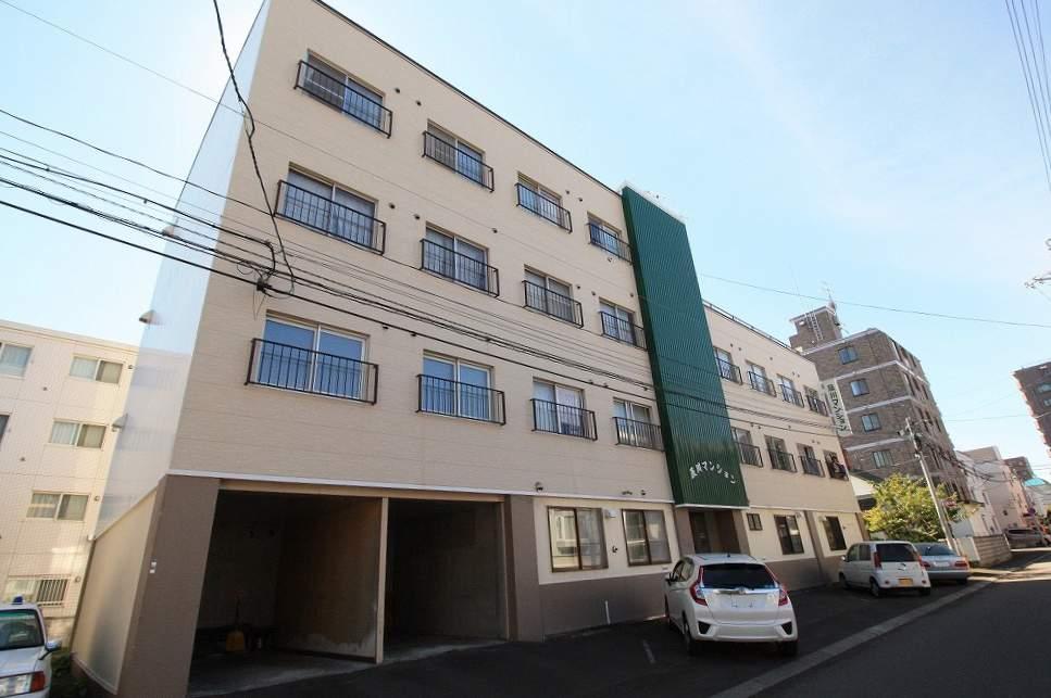 北海道札幌市豊平区、中の島駅徒歩7分の築40年 4階建の賃貸マンション