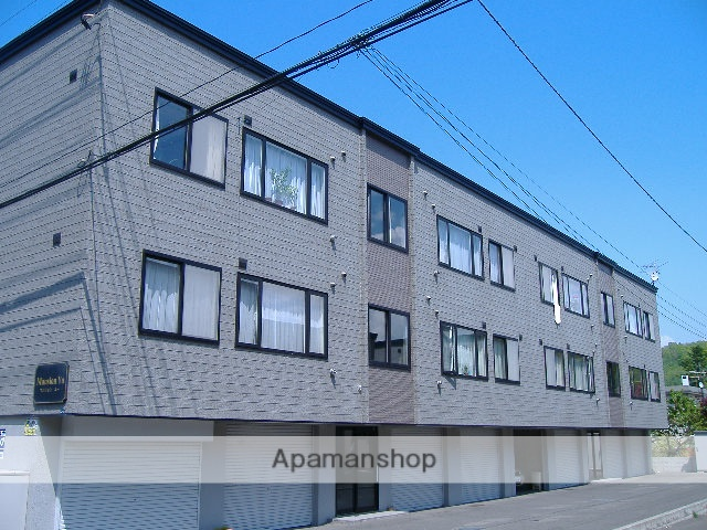 北海道札幌市南区、真駒内駅バス8分石山東3丁目下車後徒歩1分の築15年 2階建の賃貸アパート