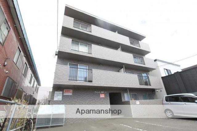 北海道札幌市豊平区、白石駅徒歩18分の築13年 4階建の賃貸マンション