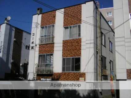 北海道札幌市豊平区、中の島駅徒歩10分の築35年 3階建の賃貸アパート