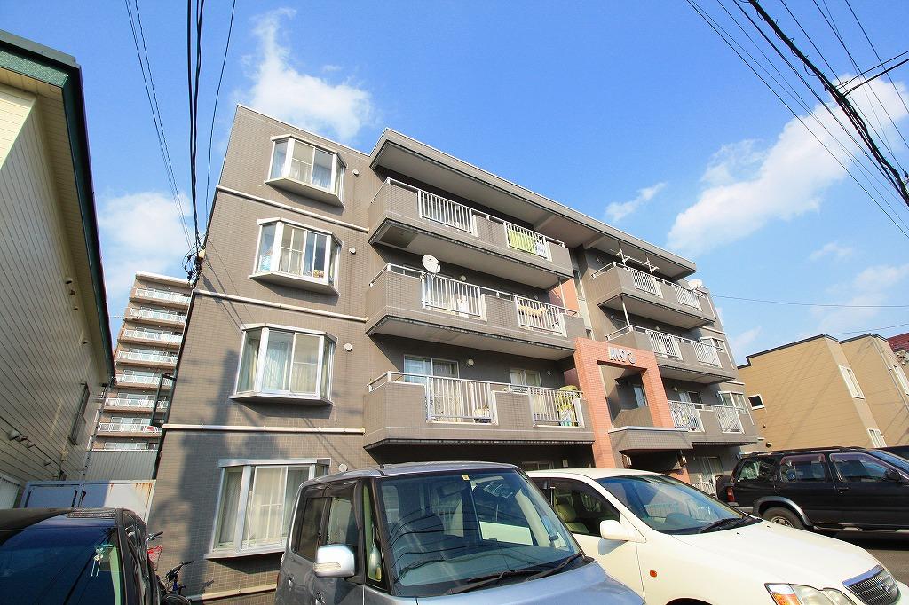 北海道札幌市豊平区、平岸駅徒歩14分の築26年 4階建の賃貸マンション