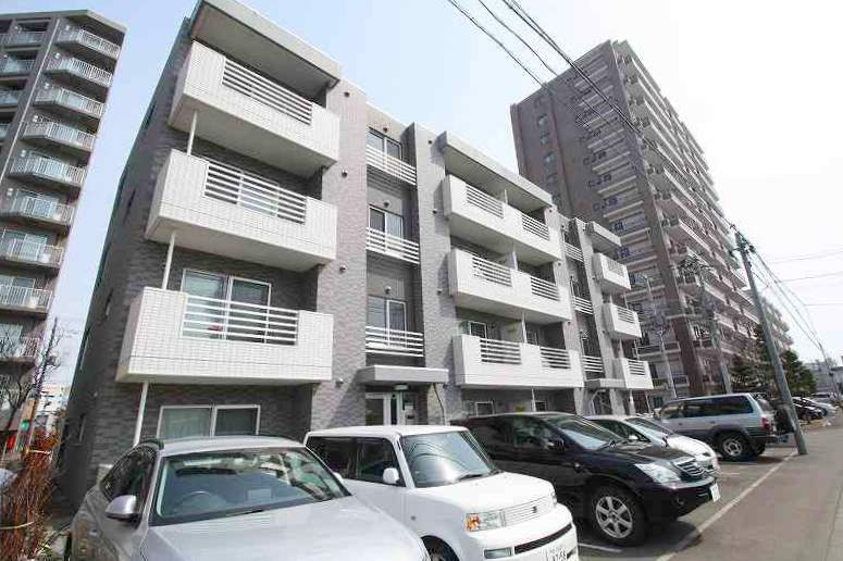北海道札幌市豊平区、平岸駅徒歩16分の築8年 4階建の賃貸マンション