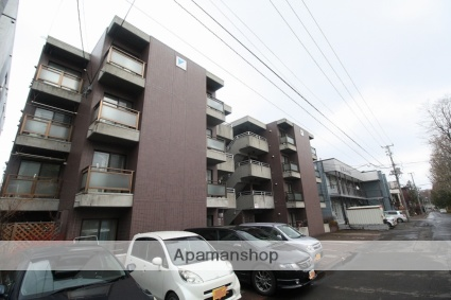 北海道札幌市豊平区、平岸駅徒歩16分の築25年 4階建の賃貸マンション