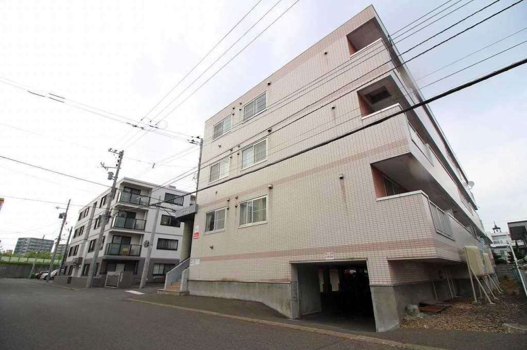 北海道札幌市豊平区、幌平橋駅徒歩9分の築22年 4階建の賃貸マンション