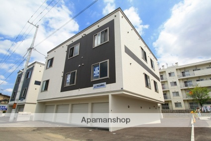 北海道札幌市白石区、苗穂駅徒歩10分の新築 3階建の賃貸アパート