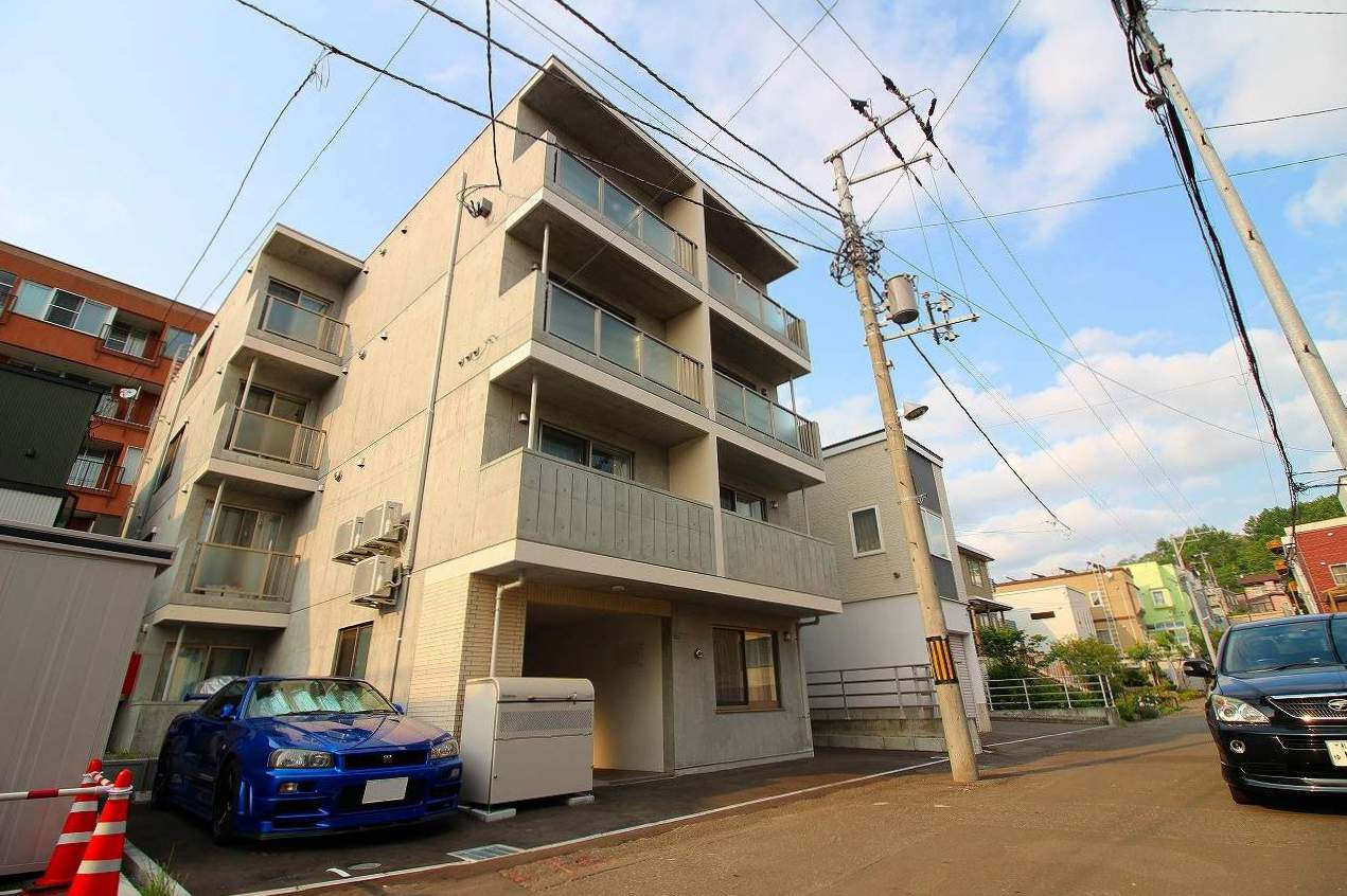 北海道札幌市南区、澄川駅徒歩20分の新築 4階建の賃貸マンション