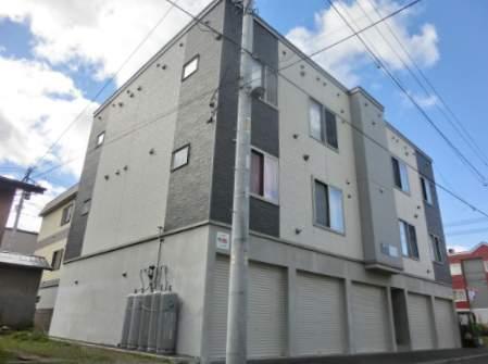 北海道札幌市西区、発寒南駅徒歩8分の築7年 3階建の賃貸アパート