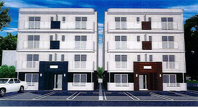 北海道札幌市白石区、白石駅徒歩25分の築4年 4階建の賃貸マンション