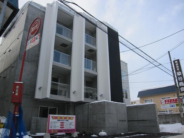 北海道札幌市豊平区、東札幌駅徒歩15分の築4年 4階建の賃貸マンション
