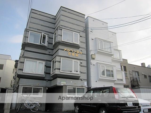 北海道札幌市豊平区、平岸駅徒歩19分の築26年 3階建の賃貸アパート