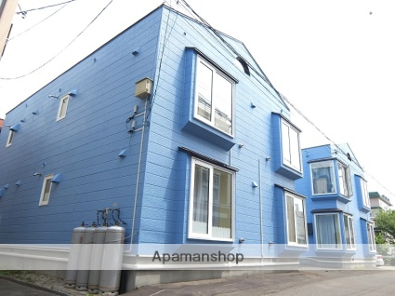 北海道札幌市南区、平岸駅じょうてつバスバス7分平岸中学校前下車後徒歩5分の築30年 2階建の賃貸アパート