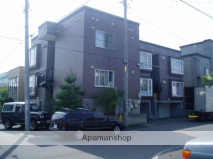 北海道札幌市豊平区、月寒中央駅徒歩16分の築22年 3階建の賃貸アパート