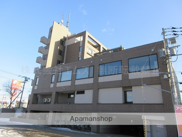 北海道北広島市、北広島駅徒歩7分の築21年 6階建の賃貸マンション