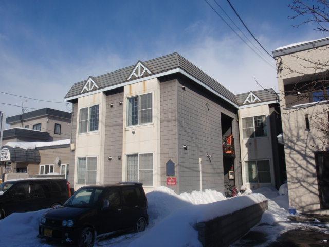 北海道札幌市白石区、平和駅徒歩25分の築23年 2階建の賃貸アパート