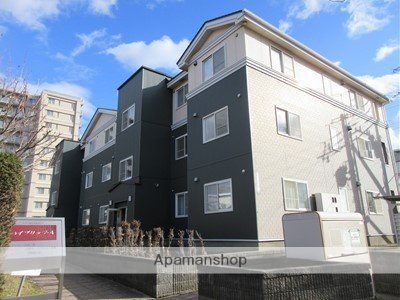 北海道札幌市厚別区、大谷地駅徒歩15分の築20年 3階建の賃貸アパート