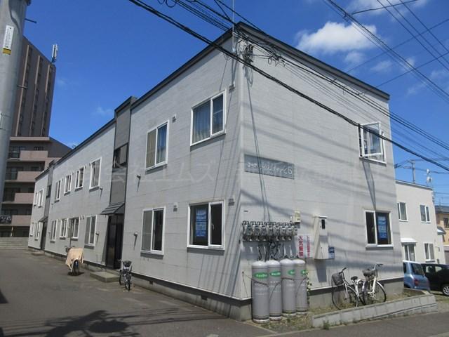 北海道札幌市厚別区、新札幌駅徒歩12分の築14年 2階建の賃貸アパート