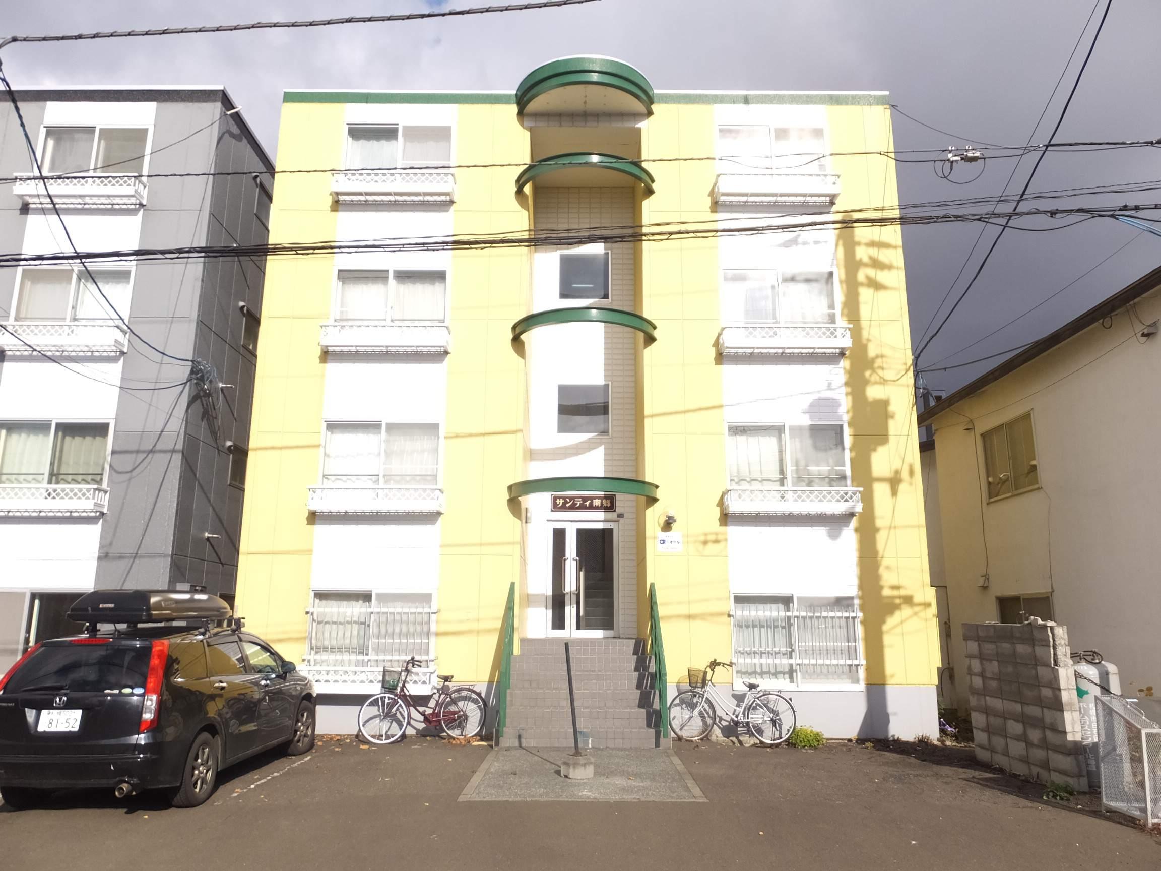 北海道札幌市白石区、南郷7丁目駅徒歩6分の築27年 4階建の賃貸マンション