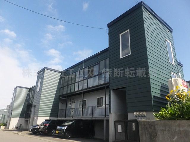 北海道北広島市、北広島駅徒歩18分の築24年 3階建の賃貸アパート