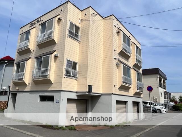 北海道札幌市白石区、白石駅徒歩10分の築30年 3階建の賃貸アパート