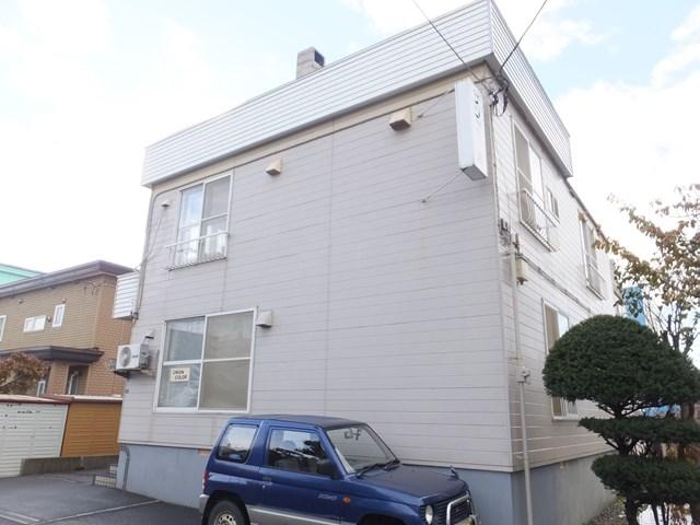 北海道札幌市白石区、白石駅徒歩6分の築32年 2階建の賃貸アパート