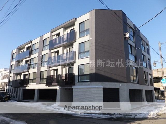 北海道札幌市厚別区、厚別駅徒歩7分の築2年 4階建の賃貸マンション