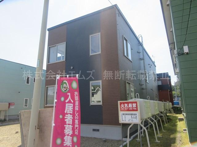 北海道北広島市、北広島駅徒歩10分の新築 2階建の賃貸アパート